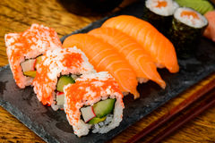 Mixed sushi plate Stock Images