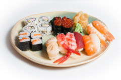 Mixed sushi plate Royalty Free Stock Photography