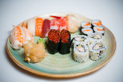 Mixed sushi plate Stock Photography