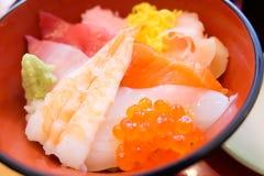 Mixed sushi rice don Stock Photos