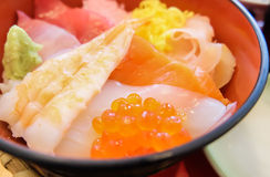 Mixed sushi rice don Stock Images