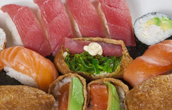 Mixed sushi rolls Royalty Free Stock Images