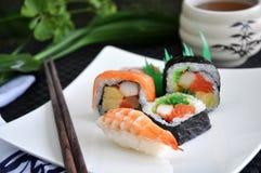 Mixed sushi set Stock Photo