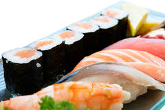 Mixed sushi Stock Photography