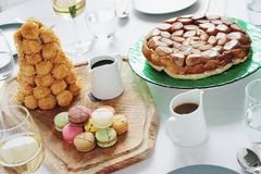 Mixed sweet desserts Stock Images