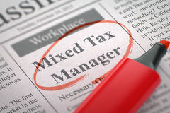 Mixed Tax Manager Wanted. 3D. Royalty Free Stock Photography