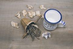 Mixed tea herbs royalty free stock photography