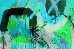 Mixed technics, Abstract painting Stock Photos