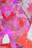 Mixed technics, Abstract painting Stock Photography