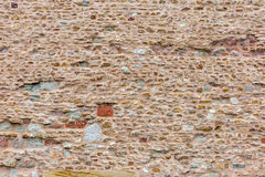 Mixed textures on old wall Royalty Free Stock Photo