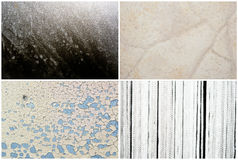 Mixed textures set Stock Photography
