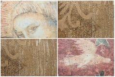 Mixed textures set Royalty Free Stock Photos