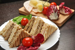 Mixed toast sandwich Stock Images