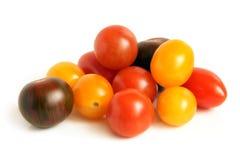 Mixed tomatoes stock image