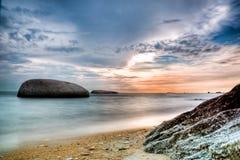 Mixed tone sunset at Melaka. HDR from 3 exposure of a mixed tone sunset Royalty Free Stock Photo