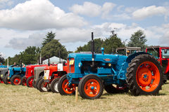 Mixed tractor line up Stock Photo