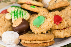 Mixed tray or platter of homemade cookies Royalty Free Stock Photo