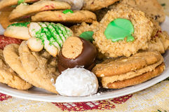 Mixed tray or platter of homemade cookies Stock Photography