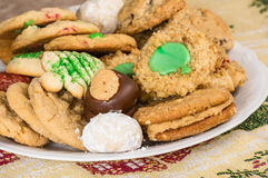Mixed tray or platter of homemade cookies Stock Photo