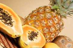Mixed tropical fruit Stock Photography