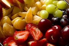 Mixed tropical fruits salad Stock Photo