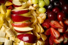 Mixed tropical fruits salad Royalty Free Stock Image