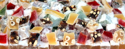 Mixed Turkish delight Royalty Free Stock Images