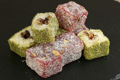 Mixed turkish delight Royalty Free Stock Photography