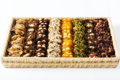 Mixed Turkish dessert Stock Photos