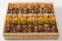 Mixed Turkish dessert Royalty Free Stock Images