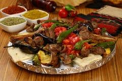 Mixed Turkish kebab stock images