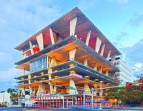 Mixed use building, designed by famous architects Herzog & de Meuron. Miami Beach, Florida USA-November 13, 2015:Mixed use building, designed by famous Stock Images