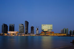 Mixed use developments at Sowwah Square in Abu Dbabi, UAE Stock Image