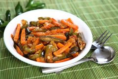 Mixed Vegetable Bhaji, Mixed Vegetable side dish. Mixed Vegetable Side dish is one of those classic Asian recipes that never go out of style. Besides,Vegetables royalty free stock photography
