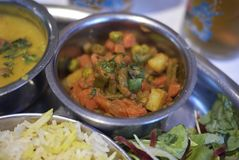 Mixed Vegetable Curry. Served for dinner stock photo