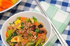 Mixed vegetable fried rice Royalty Free Stock Photography