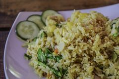 Mixed Vegetable Fried Rice - Thai food royalty free stock photos