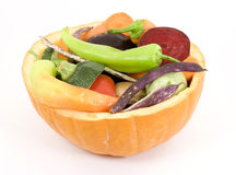 Mixed vegetable salad Royalty Free Stock Photos
