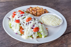 Mixed Vegetable Salad with Mayonnaise Stock Photography