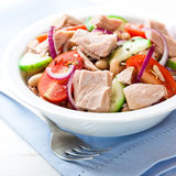 Mixed vegetable salad with tuna Stock Images
