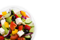 Mixed vegetable salad wit olives and feta cheese Stock Images
