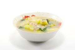 Mixed vegetable soup isolate on white Royalty Free Stock Photography