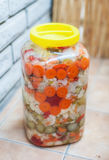 Mixed vegetable winter pickles salad Royalty Free Stock Photography
