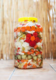 Mixed vegetable winter pickles salad Stock Images