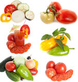 Mixed vegetables. Fresh garden vegetables on white background Royalty Free Stock Image