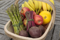 Mixed vegetables on basket Stock Images