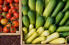 Mixed vegetables in a basket. For sale Stock Photos
