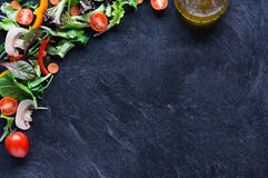 Mixed vegetables on blackboard Royalty Free Stock Photography