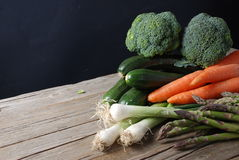 Mixed vegetables on board Royalty Free Stock Photography
