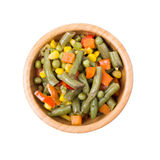 Mixed vegetables in a bowl on Stock Images